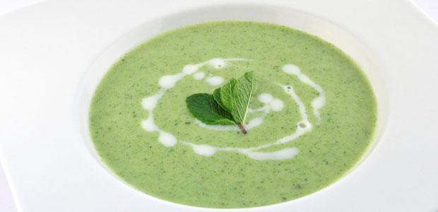 Broccoli munt soep