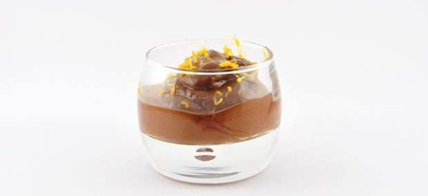 Rauwe chocolade dessert