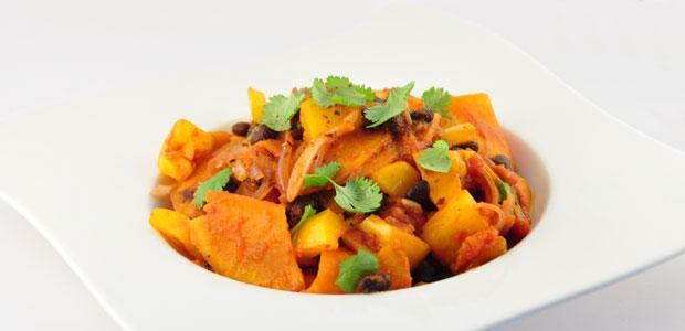 Vegetarische chili met zoete aardappel