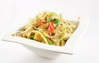 Thaise roerbakgroenten met kip