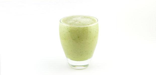 Komkommer peer limoen munt smoothie