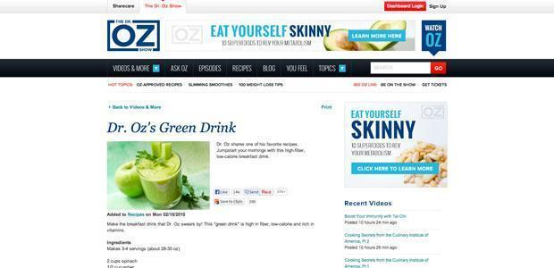 Groene drankje van Dr. Oz (groene smoothie)