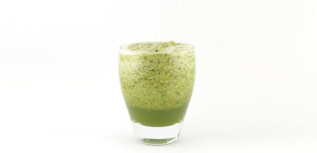 Komkommer cantaloupe munt smoothie
