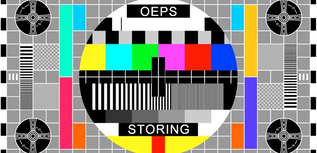 Oeps, storing…
