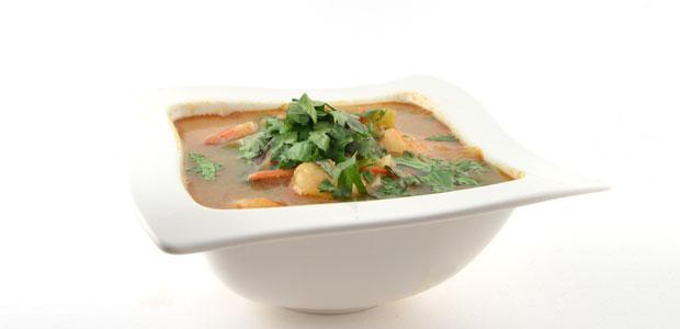 Tom Yam Kung met extra groenten