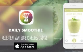 Groene smoothie iPhone app DailySmoothie