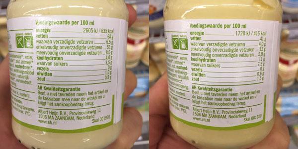 Mayonaise vs halvanaise
