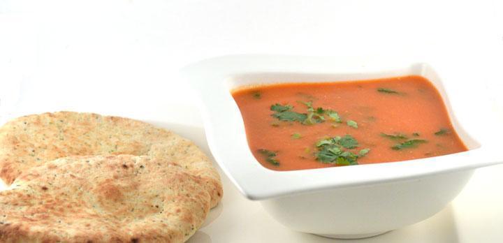 Snelle tomatensoep (Indiase stijl)