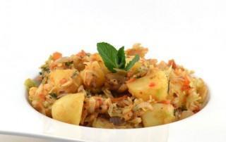 Kool aardappelcurry
