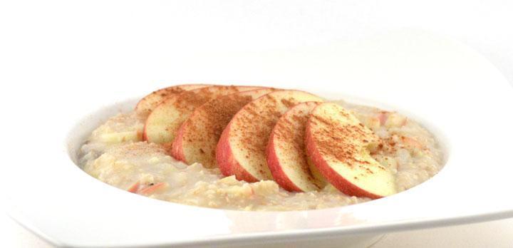 Havermoutpap met appel en kaneel