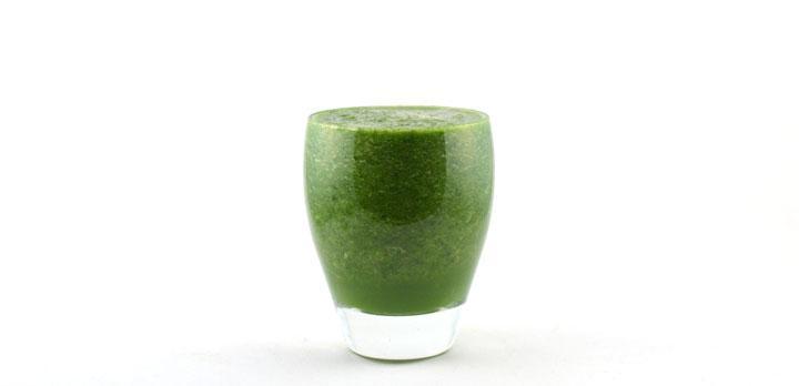Spinazie komkommer meloen druif smoothie