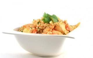 Thaise gele curry met garnalen