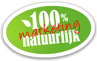 100% natuurlijk is marketing
