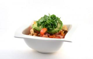 Spicy Mexican chicken in a bowl