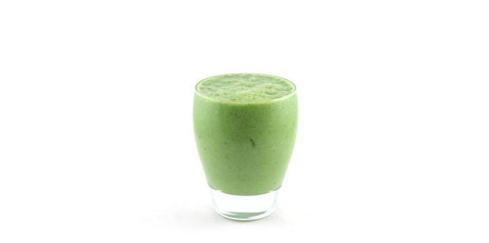 Komkommer spinazie banaan ananas yoghurt smoothie
