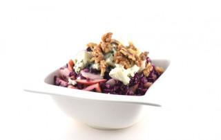 Paarse zomersalade met roquefort