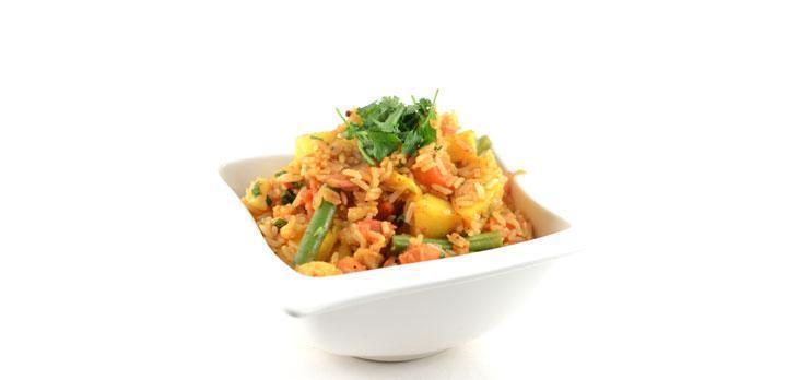 Indiase curry met mango