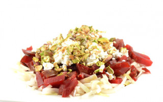 Witlof biet geitenkaas pistache salade