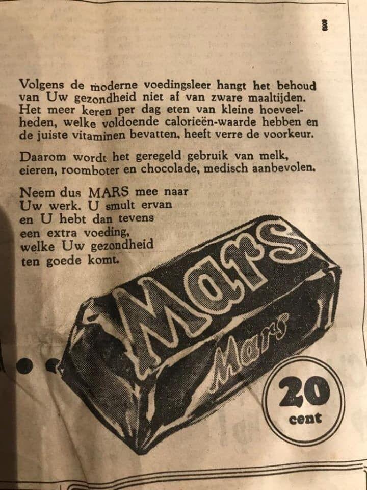 Mars reclame meerdere snackmomenten per dag